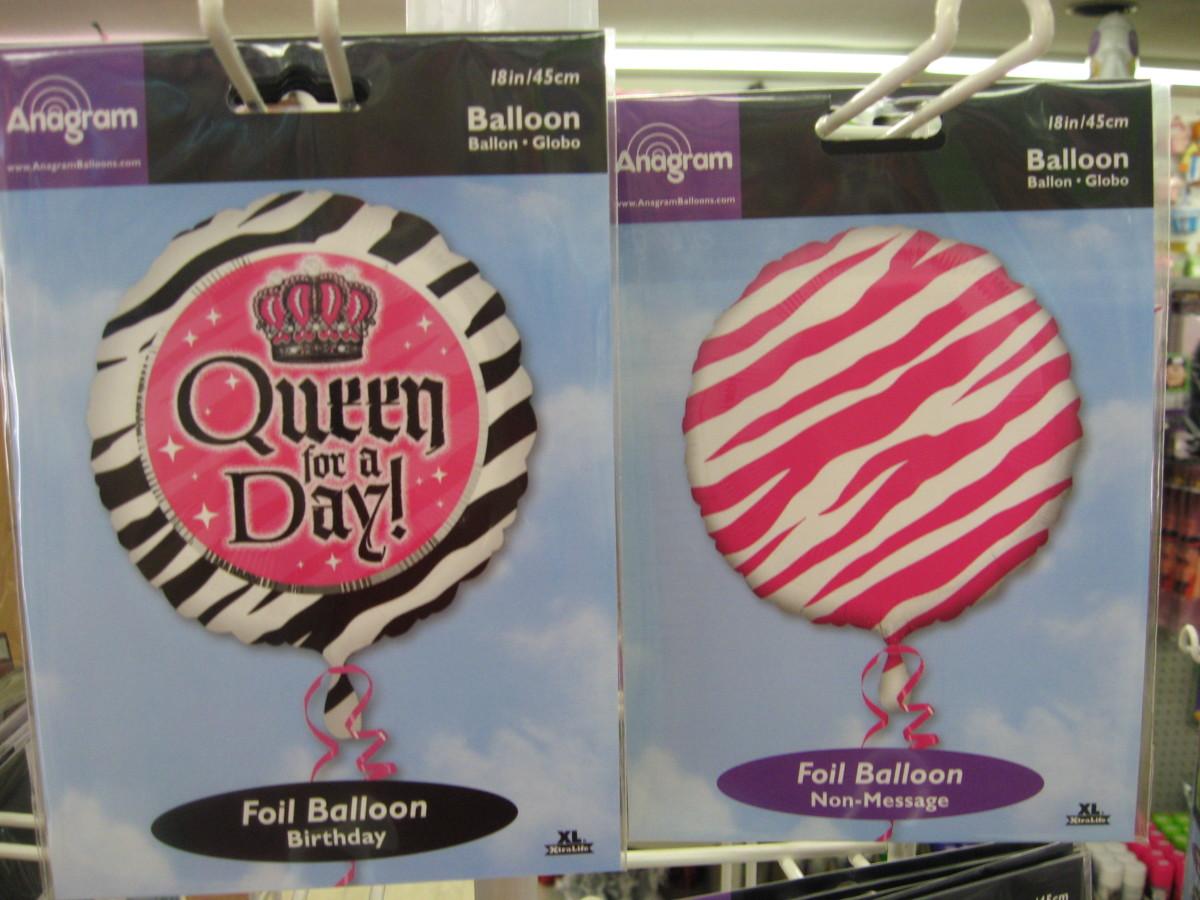 Zebra Balloons