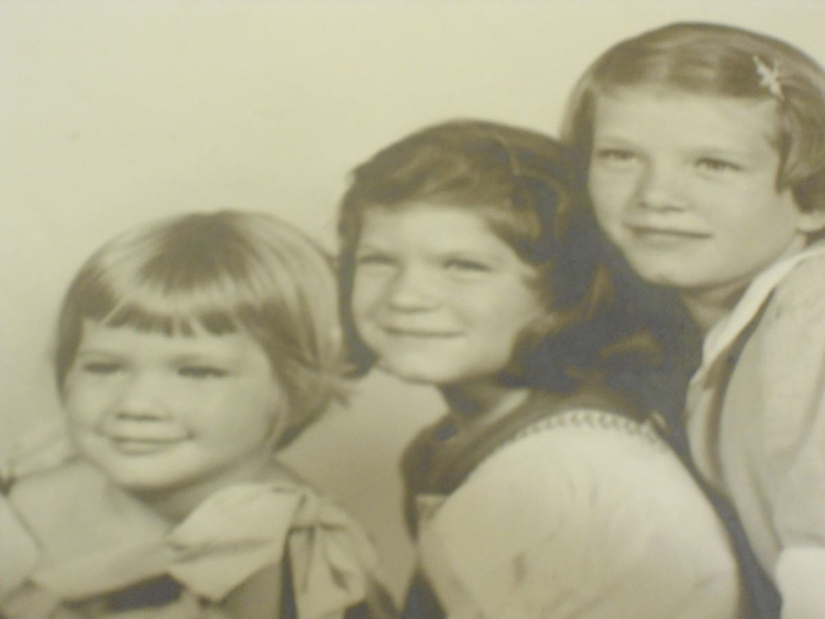 Three sisters...right to left, Terry, Mary Jane, Me