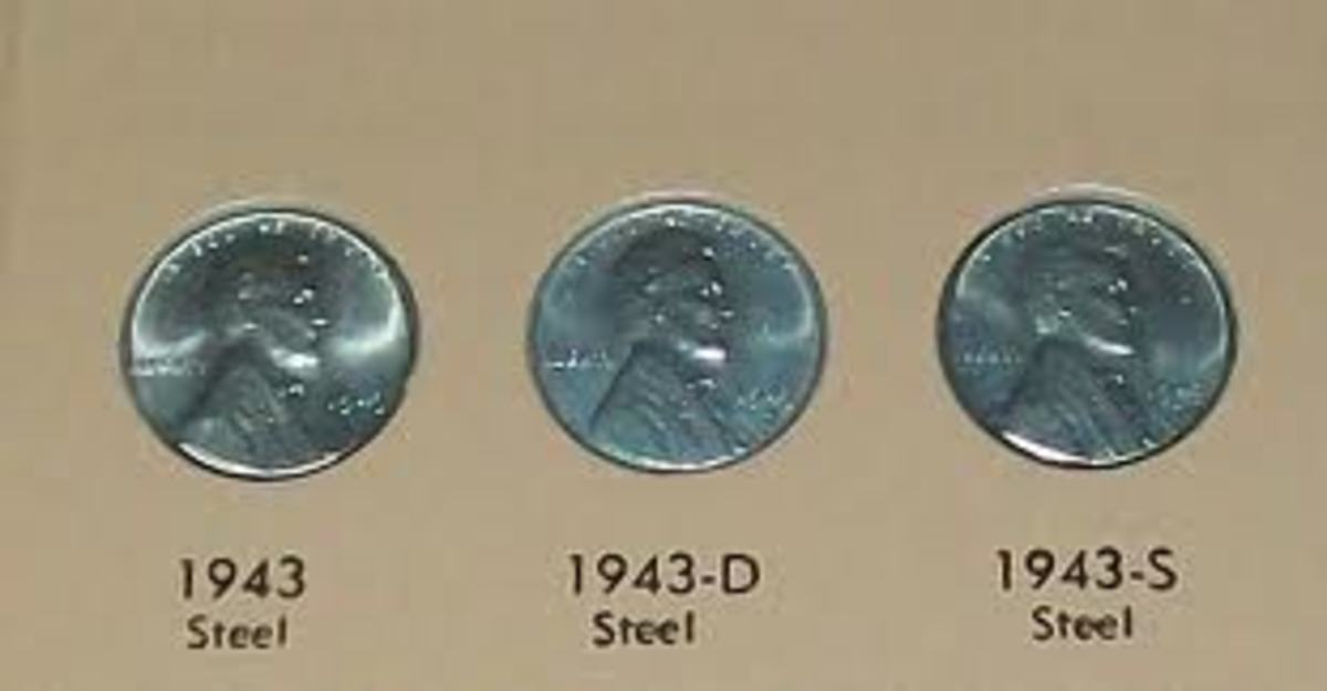 This was the complete set of pennies that were produced in 1943. However, a mint error caused a few copper pennies to be sent into circulation.