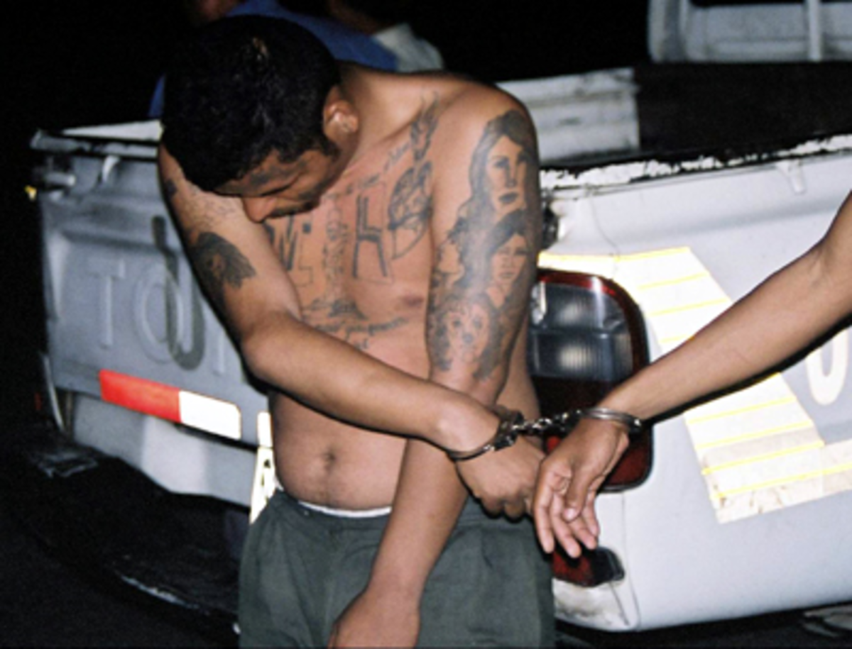 Arrest of gang member.