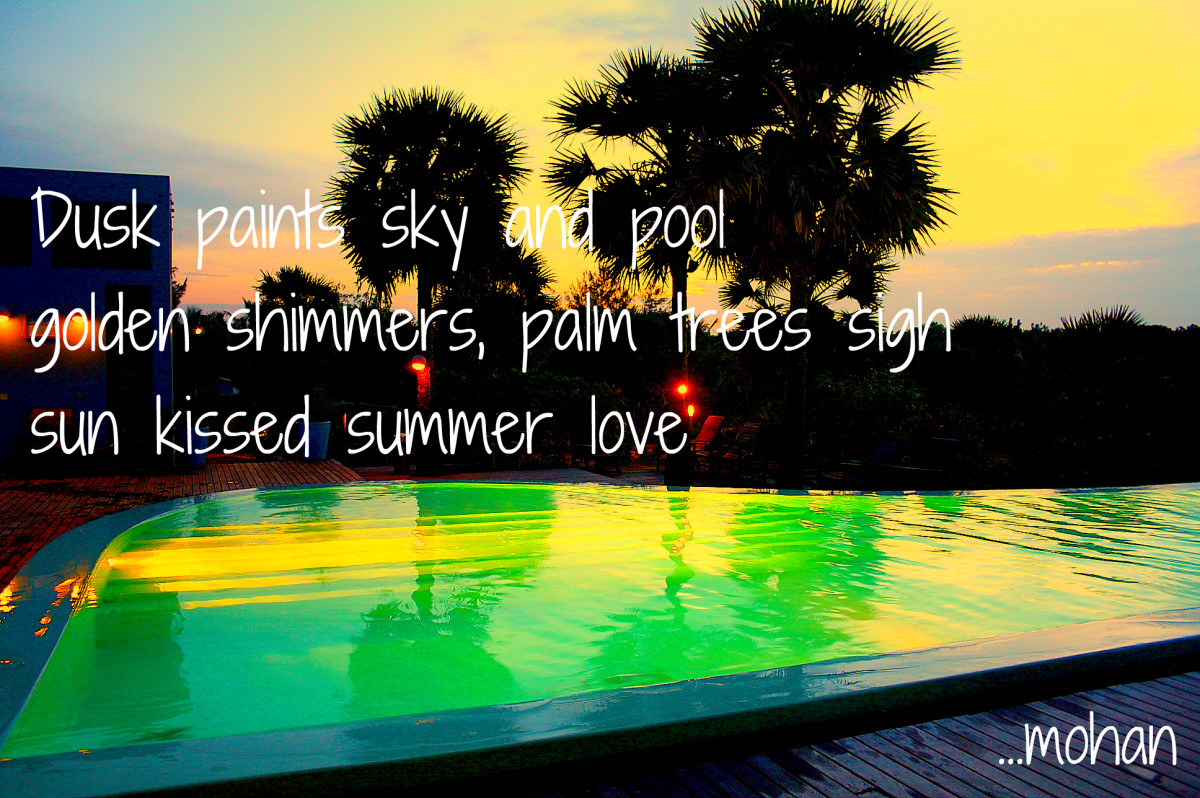 Haiga II: Summer Love (This picture was taken in a eco-resort called Dune in Pondicherry, South India)