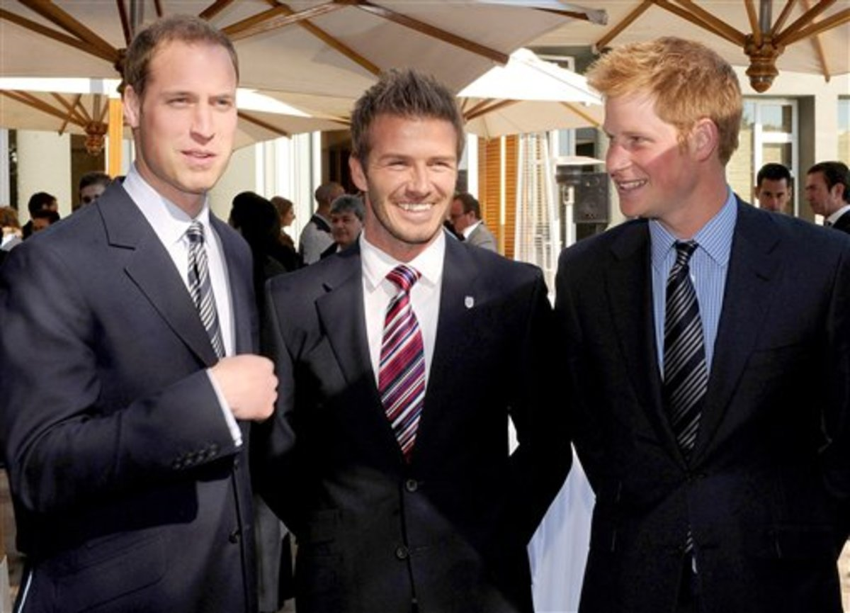 Princes William and Harry, accompanied by footballing legend and icon David Beckham; all Rolex owners and wearers.