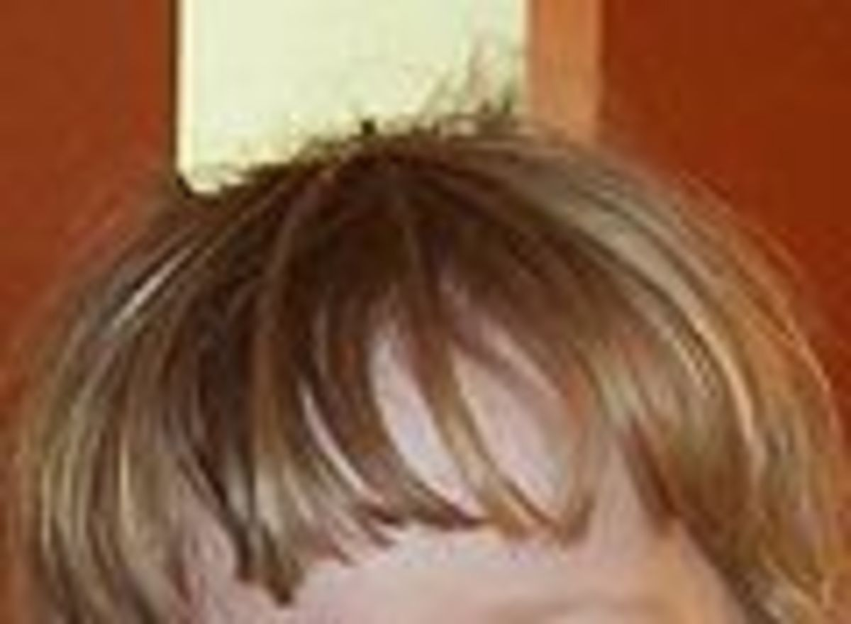 Bangs help conceal thinning hair