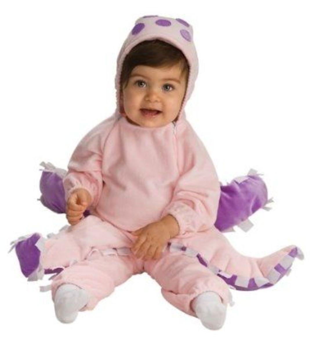 Rubie's Deluxe Baby Octopus Costume, Pink