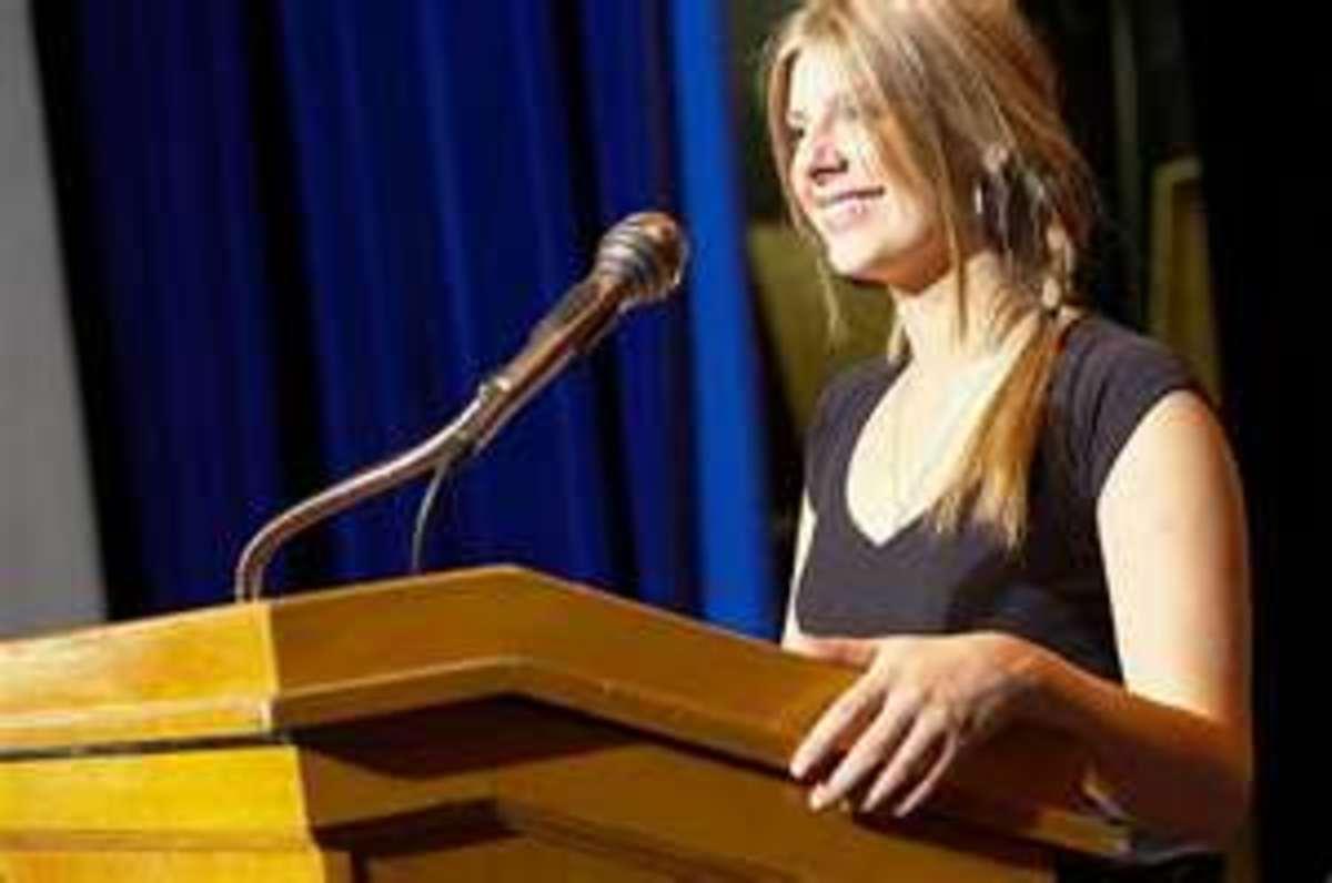 Girl giving a speech