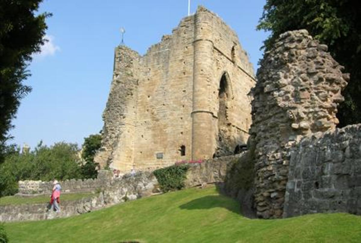 Knaresborough Castle keep now. The site includes a museum worth a look-in