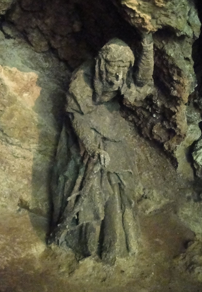Mother Shipton. A passable stone carving. Speaking of stone, take a look at the petrifying well