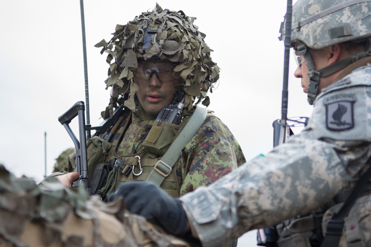 US, Estonian troops patrol
