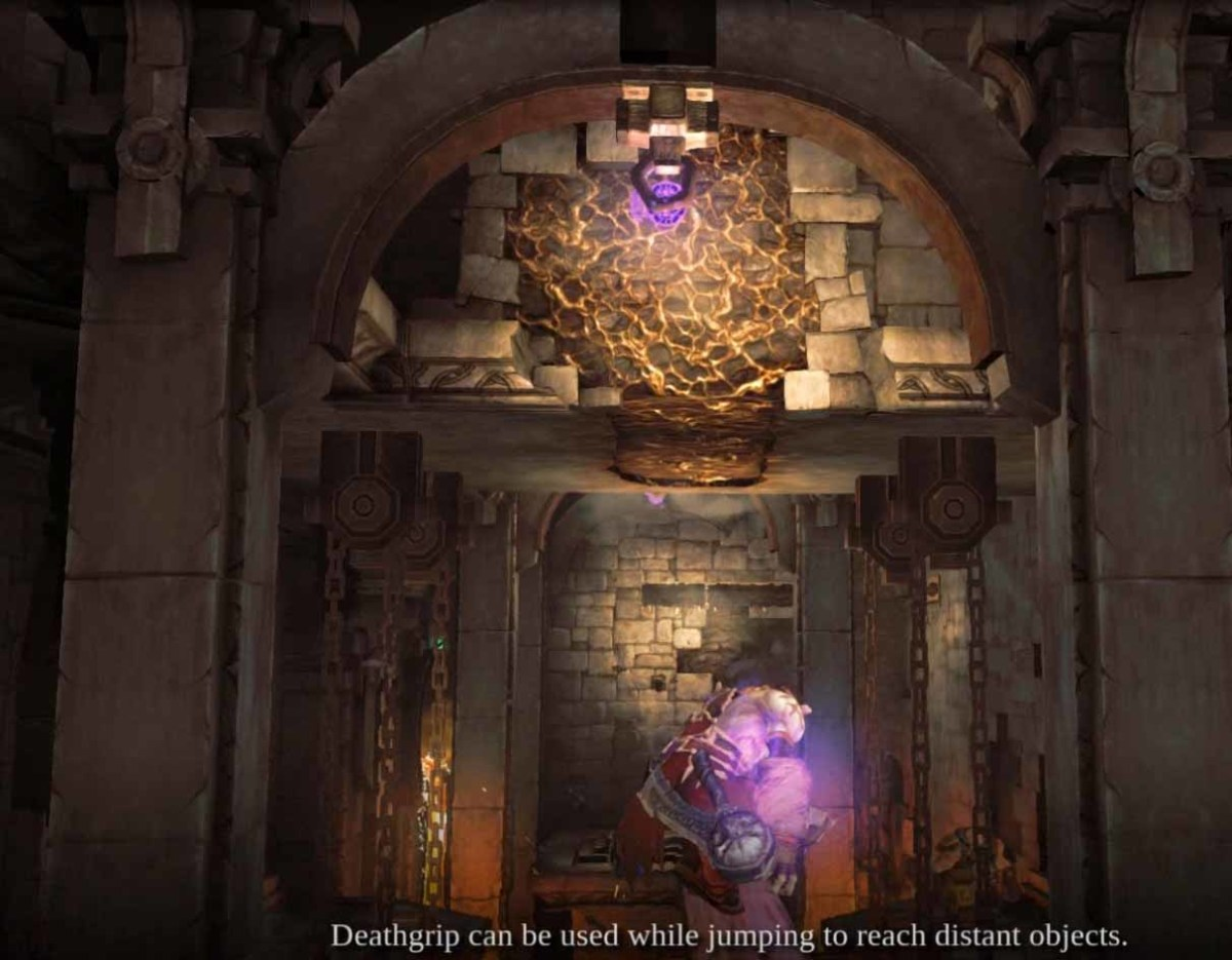 Darksiders 2 Use Deathgrip in the Foundry