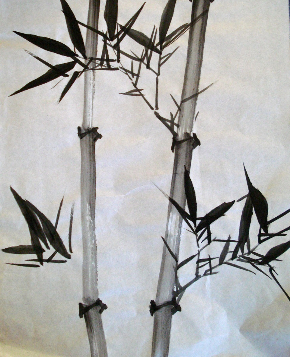 Chinese Watercolour Techniques for Painting Bamboo