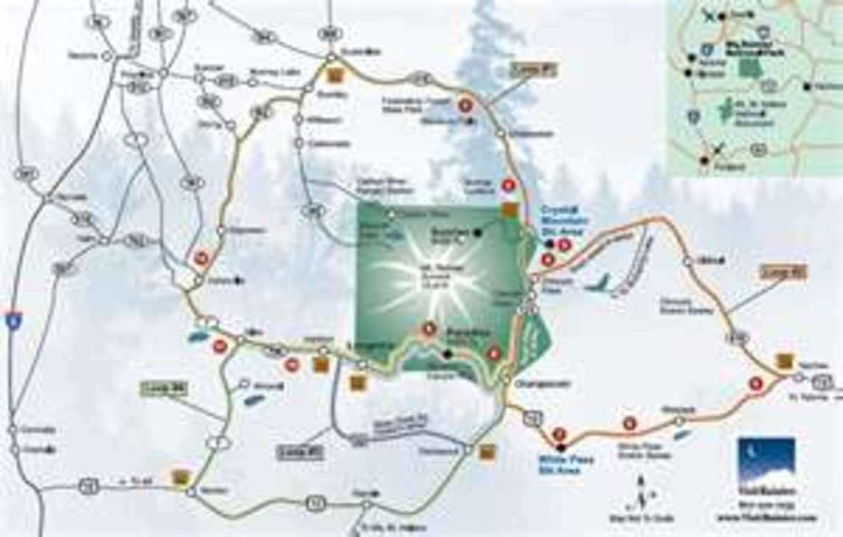 Mount Rainier Loop map
