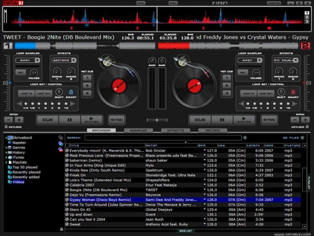 Virtual DJ Interface