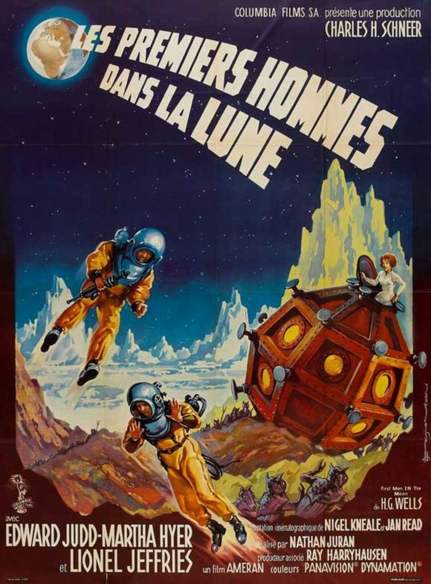 First Men in the Moon (1964) French poster