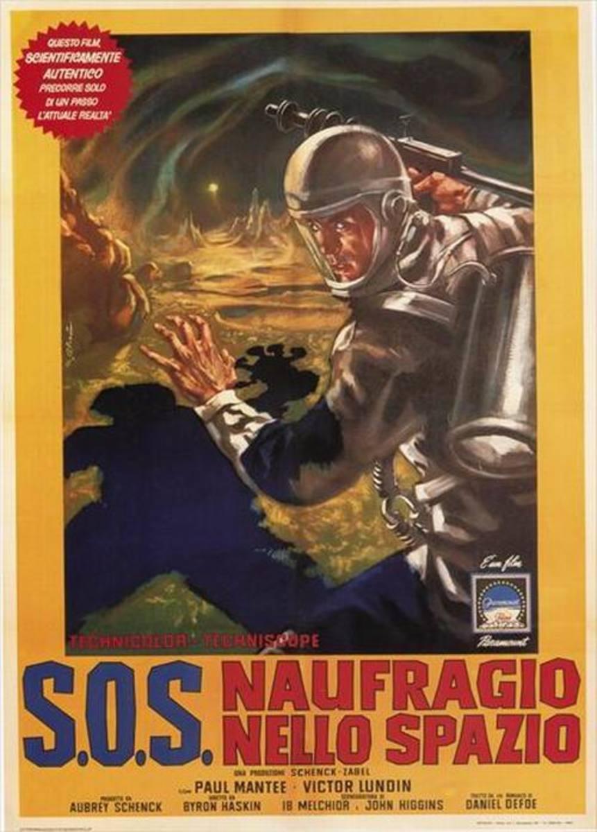 Robinson Crusoe on Mars (1964) Italian poster