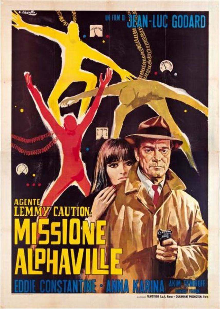 Alphaville (1965) Italian poster