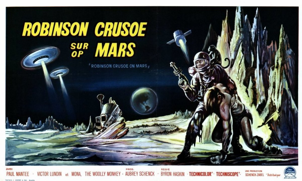 Robinson Crusoe on Mars (1964) French poster