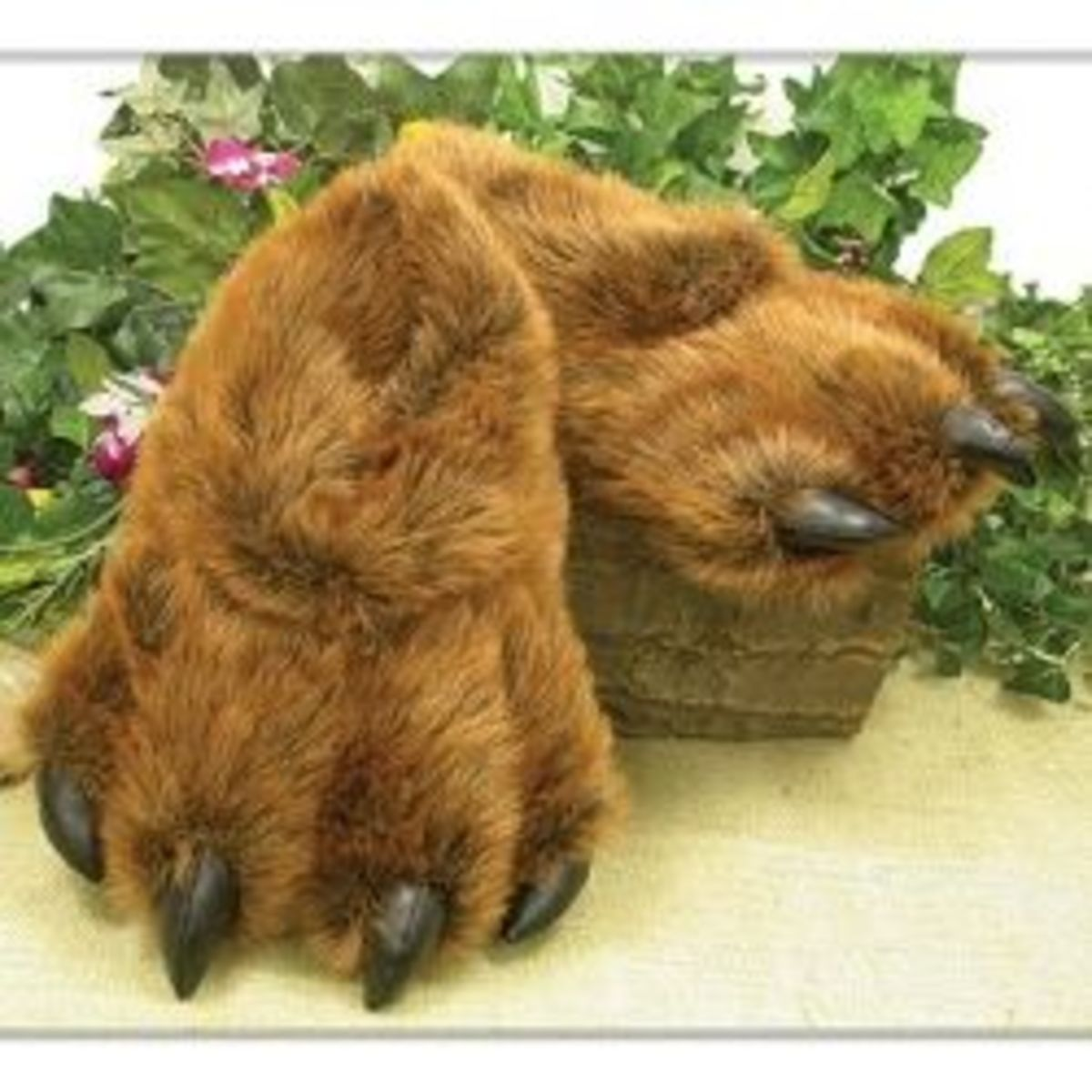 Bear Claw Fuzzy Slippers