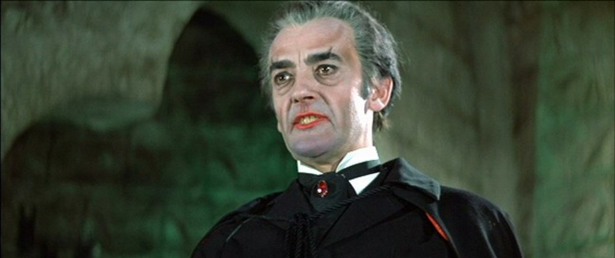 John Forbes-Robertson as Dracula in Legend of the 7 Golden Vampires (1974)