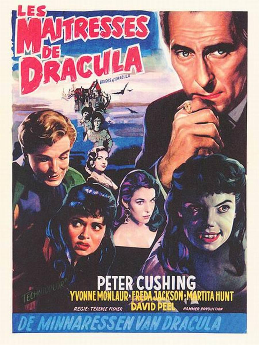 Brides of Dracula (1960) Belgian poster