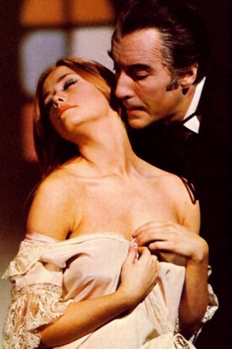 Linda Hayden and Christopher Lee in Taste the Blood of Dracula (1970)