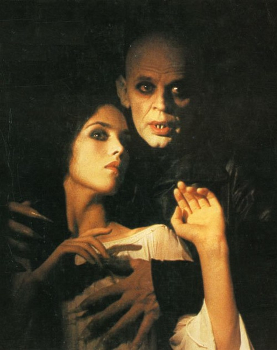 Klaus Kinski and Isabelle Adjani in Nosferatu the Vampire (1977)