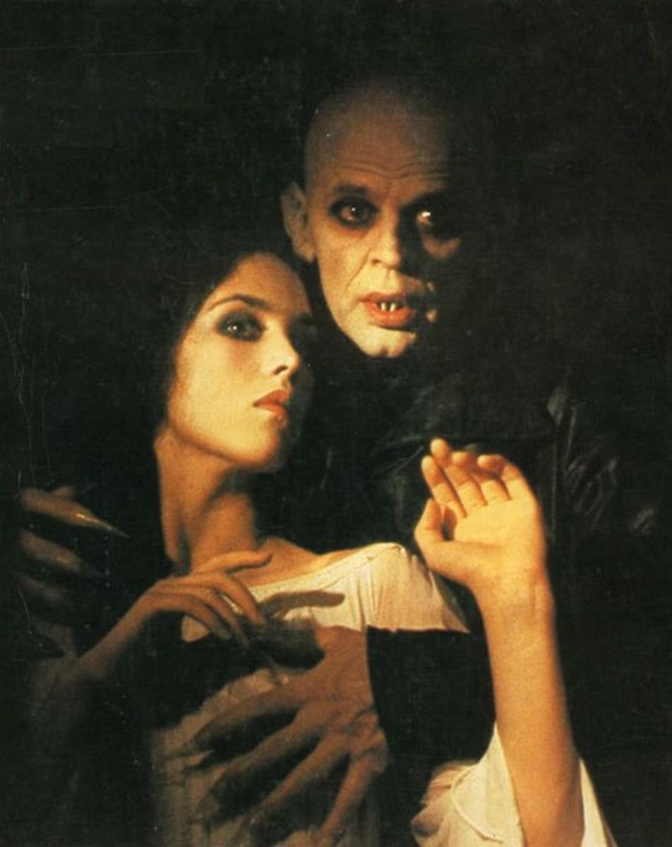 Klaus Kinski and Isabelle Adjani in Nosferatu the Vampire (1977)