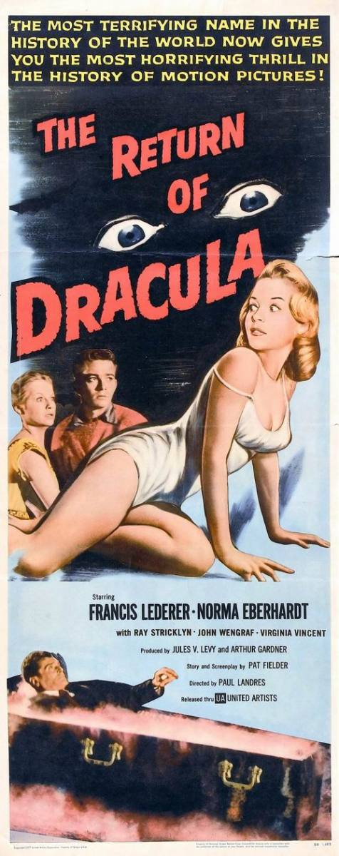 The Return of Dracula (1958) poster