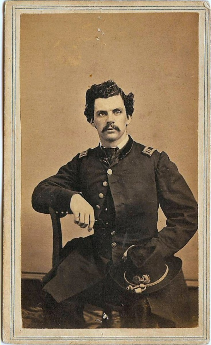Richard Middleton, Captain in Union Army and wife, Catharine Margaret Middleton born Washington 1828