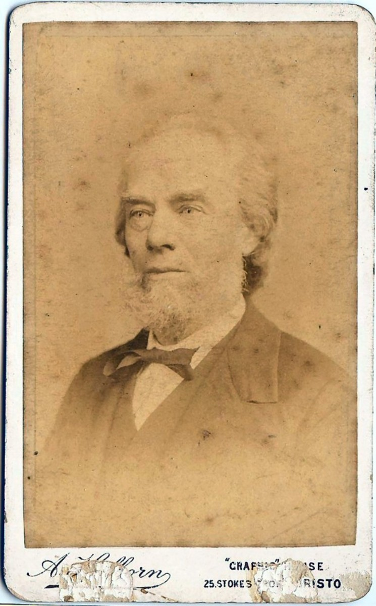 George Burgess, born Bristol 1829 who spent about 12 years living in America between 1844 and 1857.