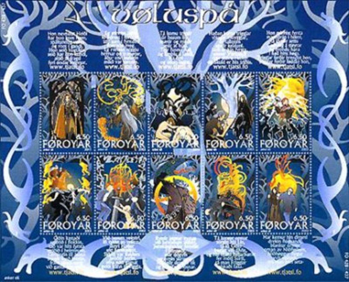 Faroe Islands VÃluspa stamps