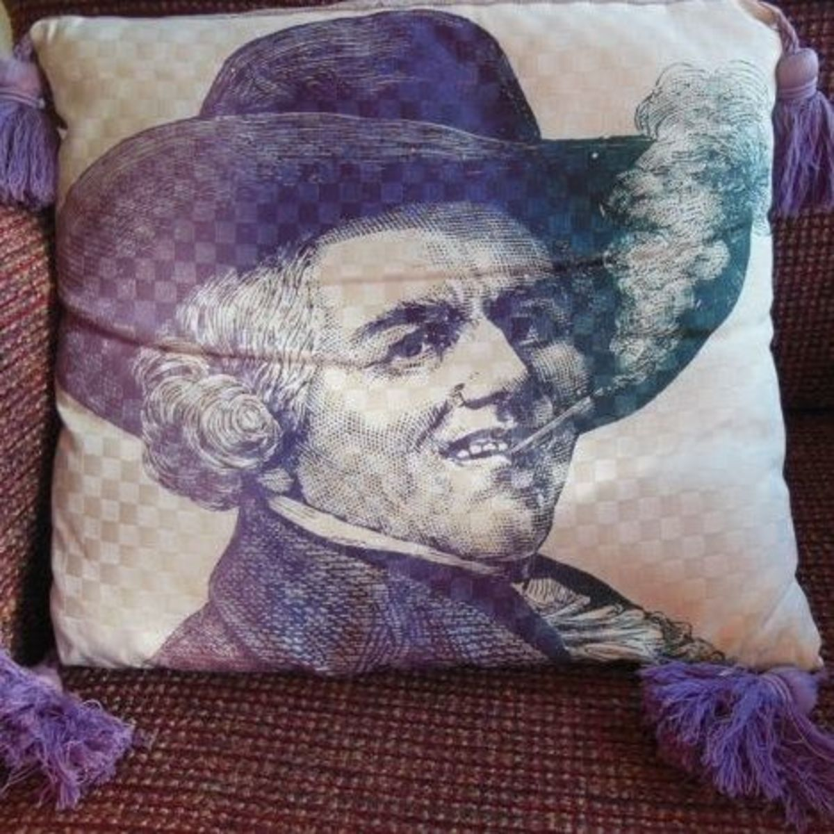 Victorian image pillow, photo by Relache