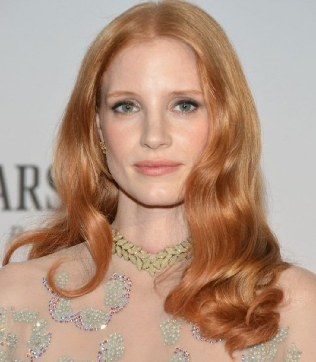 Jessica Chastain, a strawberry blonde