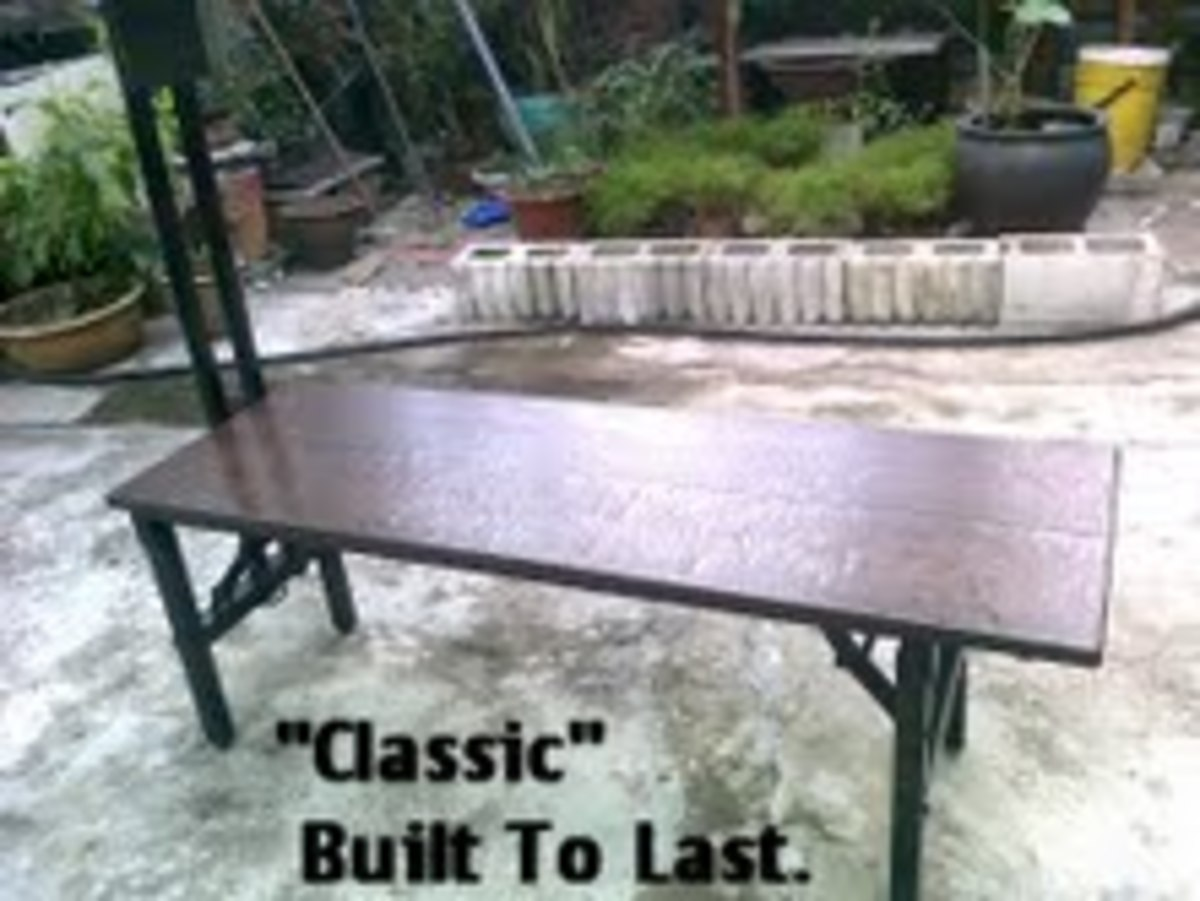 Bench Top made of Water-resistant Plastic Composite Wood Rm660.00.
