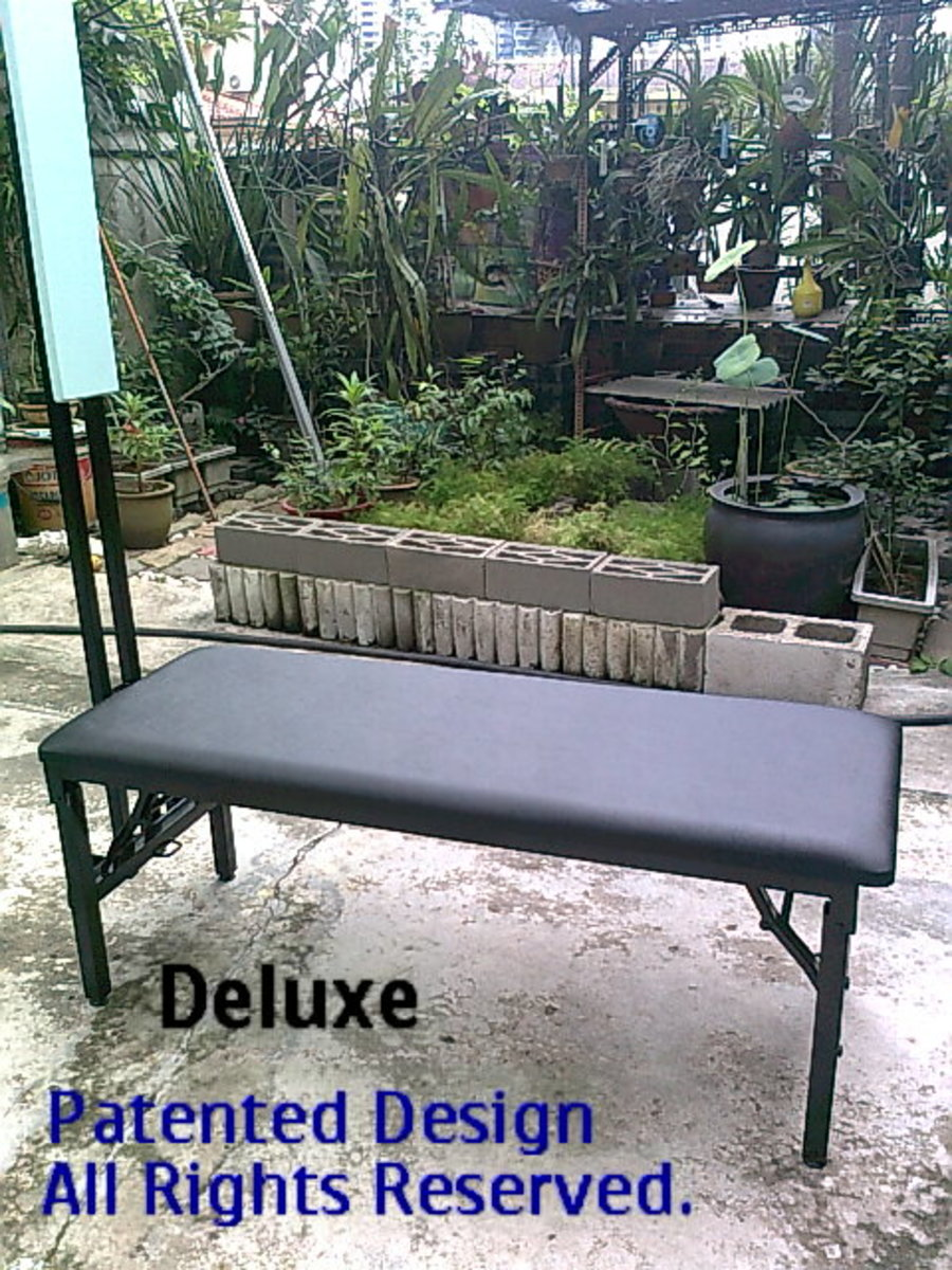 Deluxe Model Lajin Bench.  Legs are foldable. Rm750.00