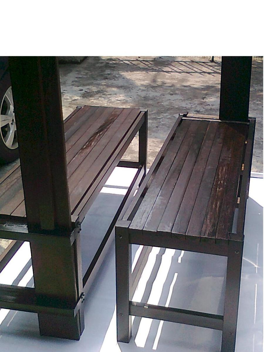 Strip Wood Bench Top. No gaps in between. Rm 550.00 Fixed and Not Foldable.