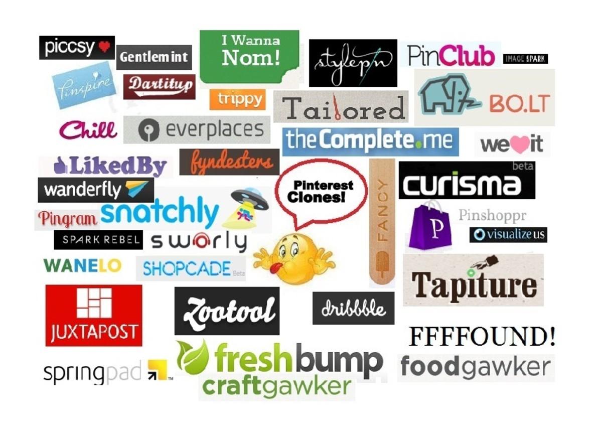 sites like pinterest list of 50 similar social media