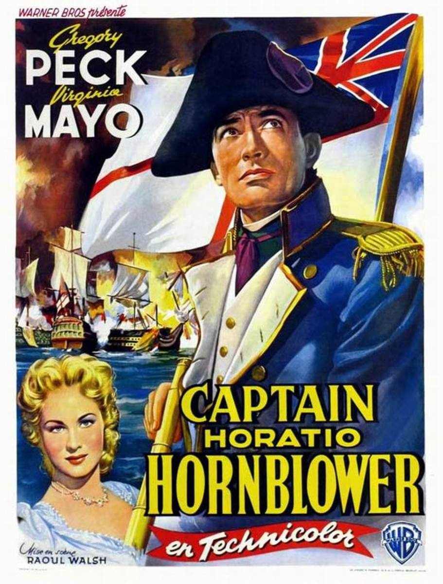Captain Horatio Hornblower (1951) Belgian poster