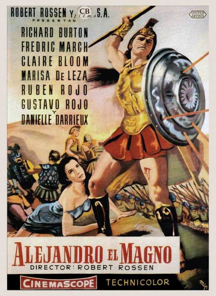 Alexander the Great (1956) Spanish poster