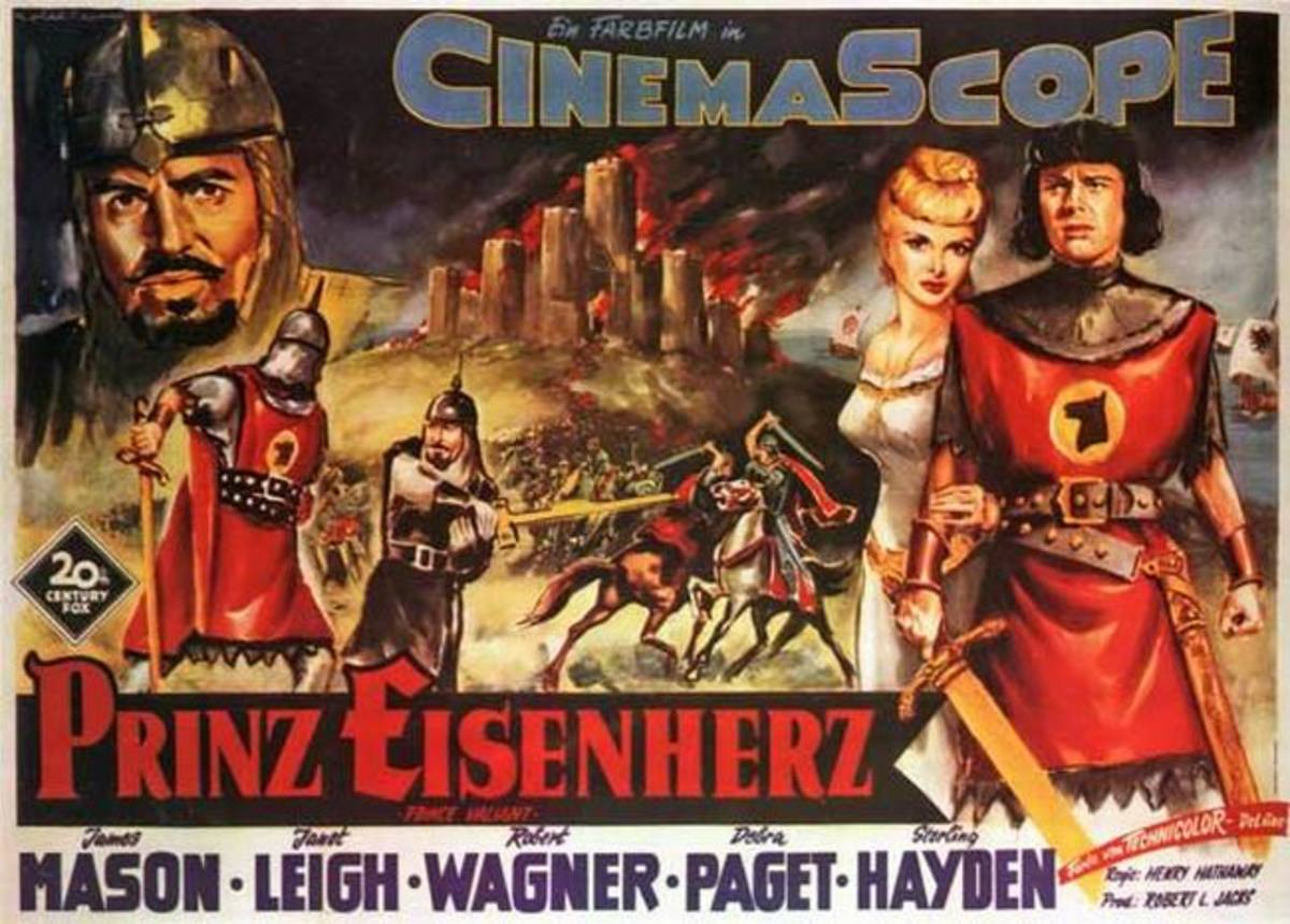 Prince Valiant (1954) German poster
