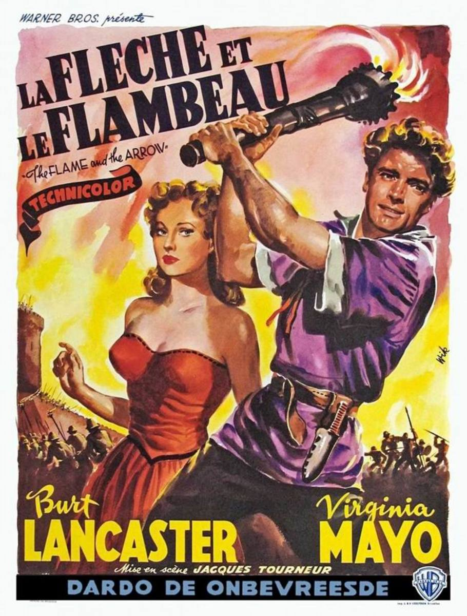 The Flame and the Arrow (1950) Belgian poster
