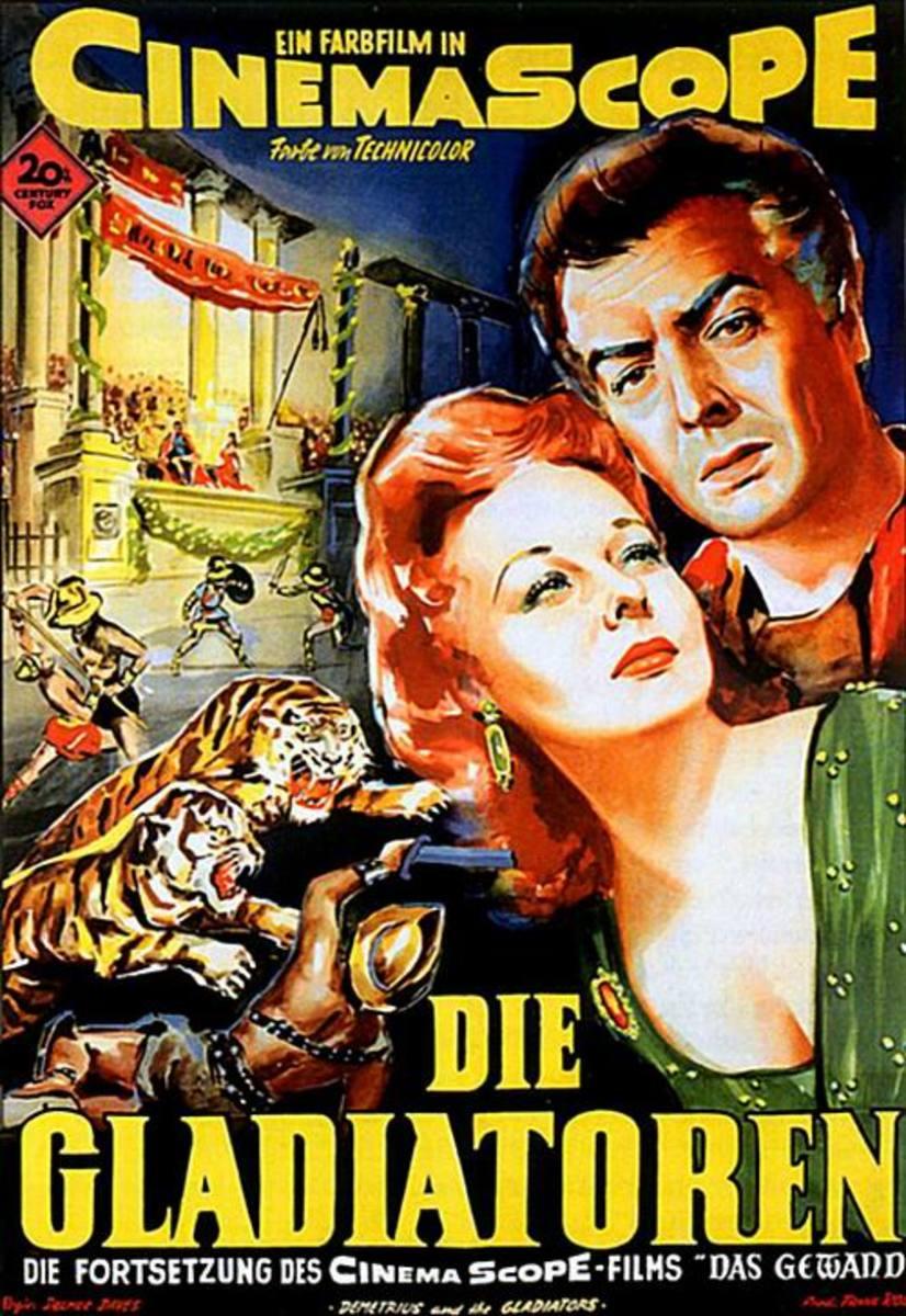 Demetrius and the Gladiators (1954) German poster