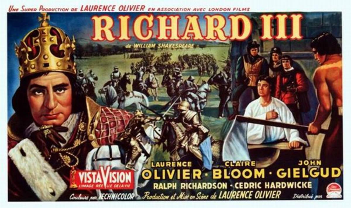 Richard III (1955) Belgian poster