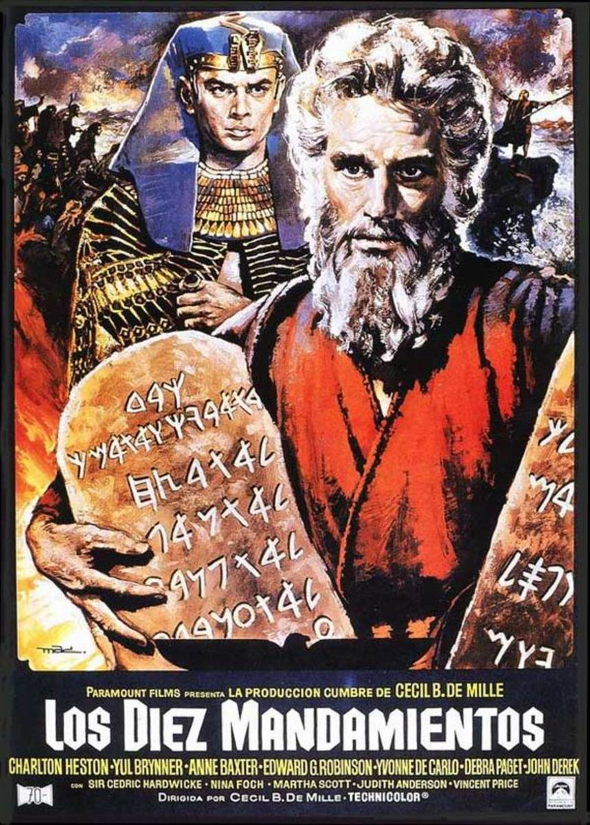 The Ten Commandments (1956) Spanish poster