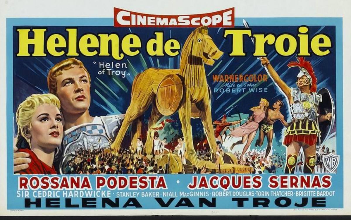 Helen of Troy (1956) Belgian poster