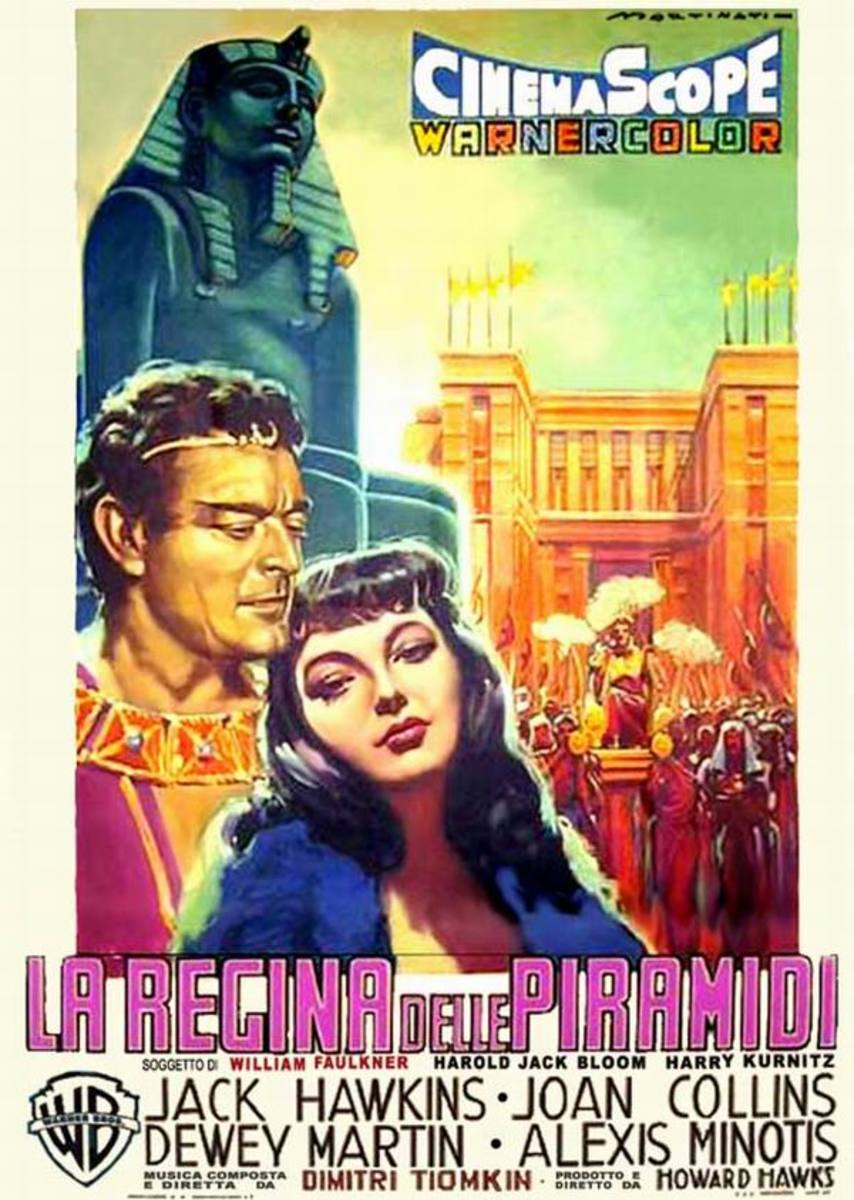 Land of the Pharaohs (1955) Italian poster