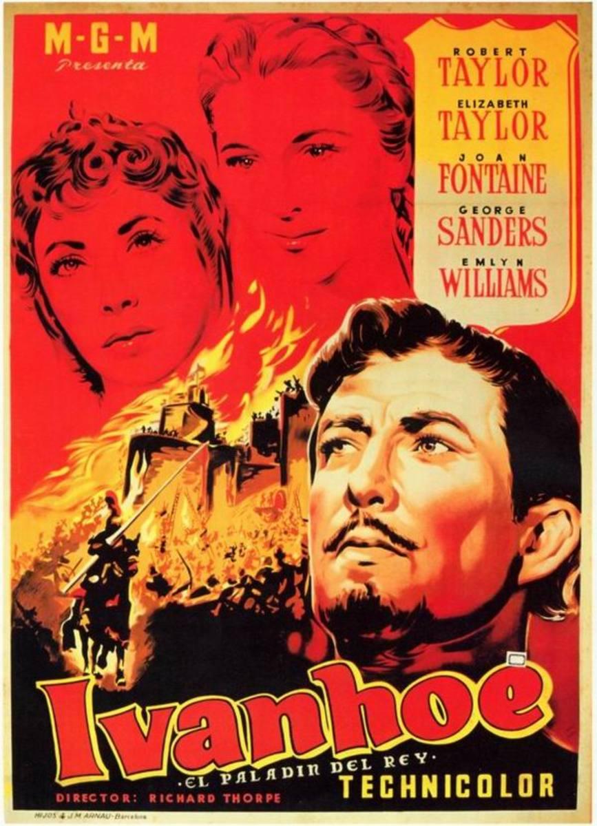 Ivanhoe (1952) Spanish poster