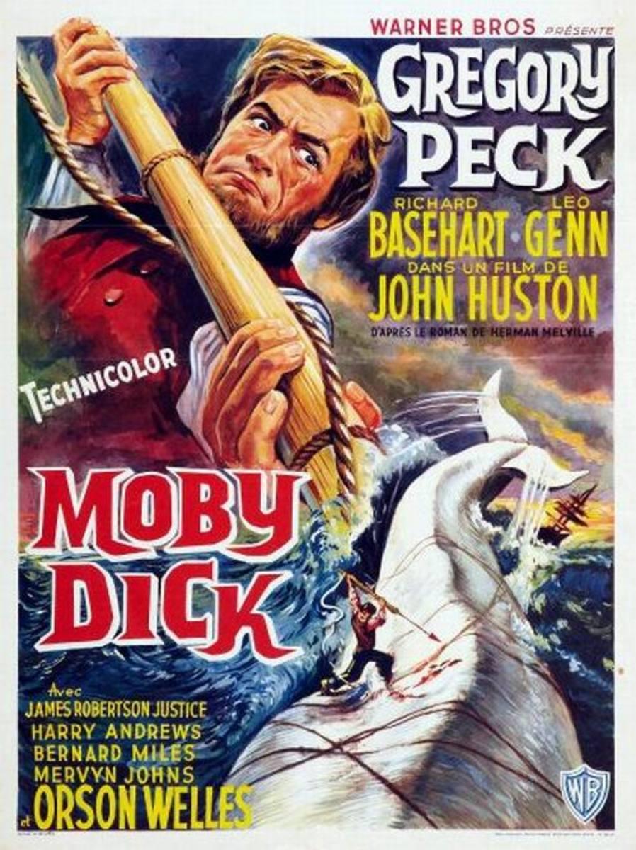 Moby Dick (1956) Belgian poster
