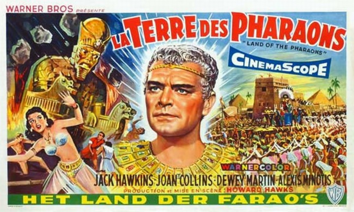 Land of the Pharaohs (1955) Belgian poster