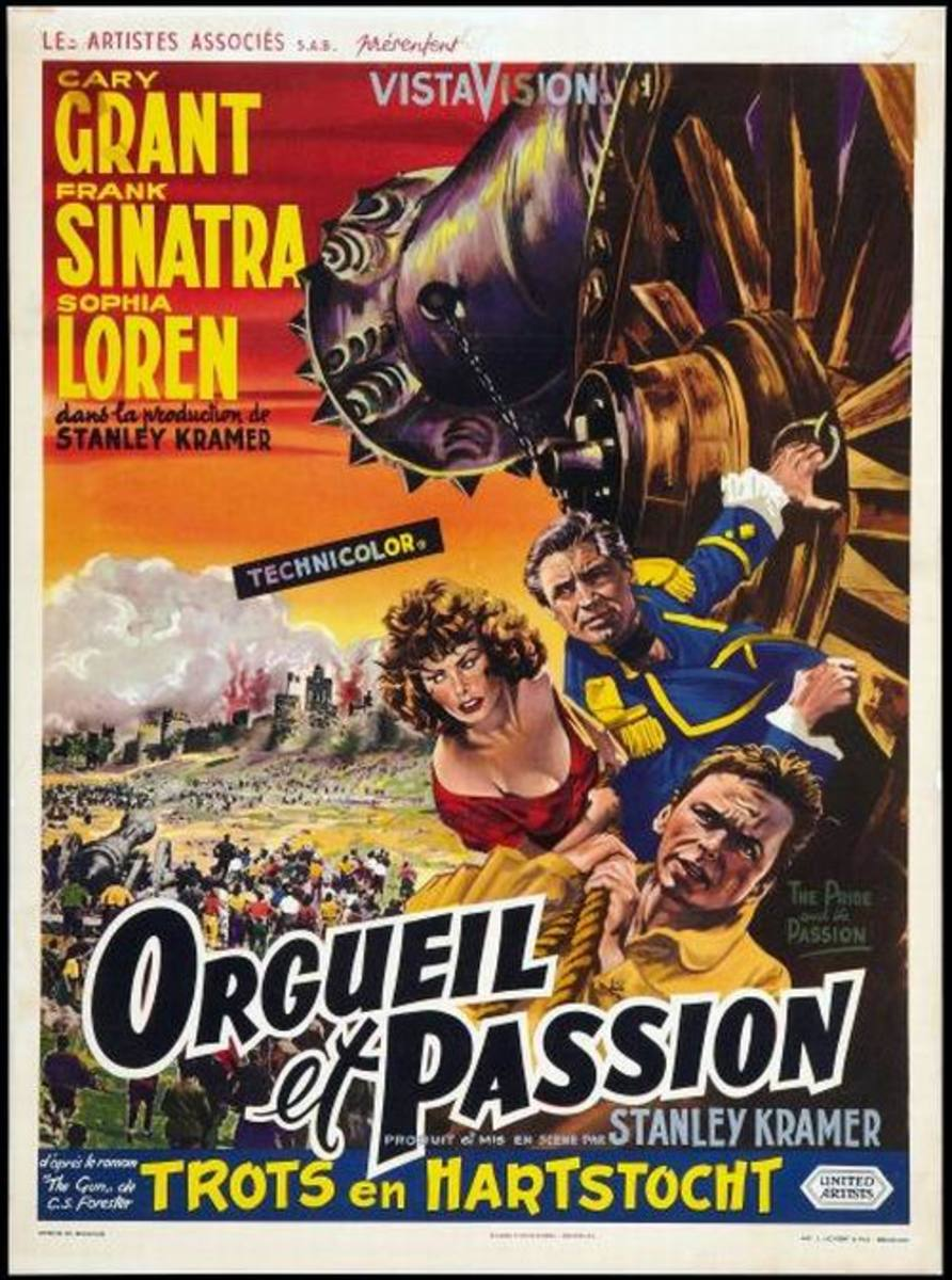 The Pride and the Passion (1957) Belgian poster