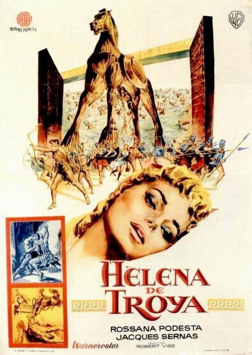 Helen of Troy (1956) Spanish poster